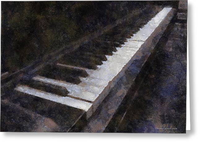 Piano Photo Art 01 Greeting Card by Thomas Woolworth
