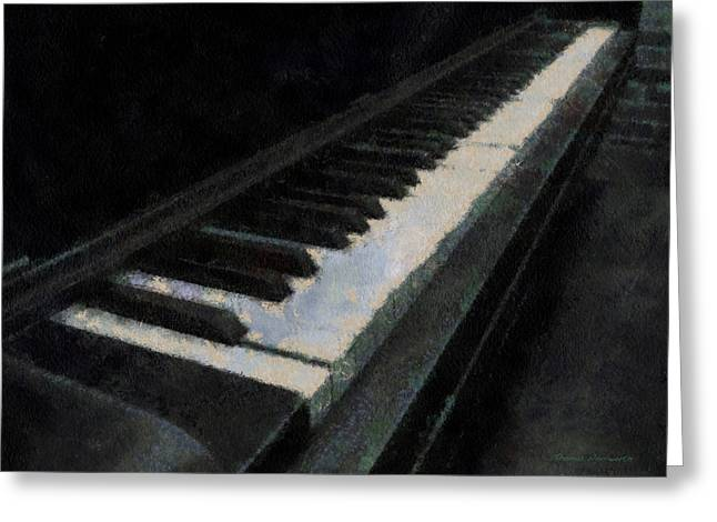 Piano Photo Art 02 Greeting Card by Thomas Woolworth