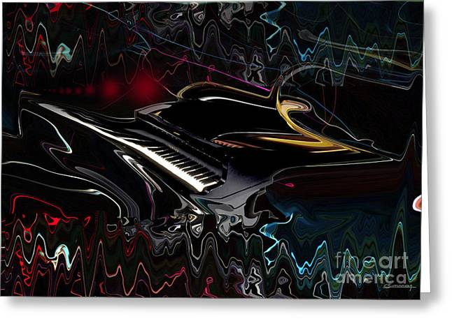 Piano Sound Greeting Card by Christian Simonian