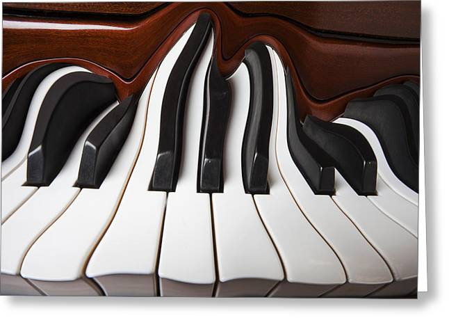 Piano Wave Greeting Card by Garry Gay
