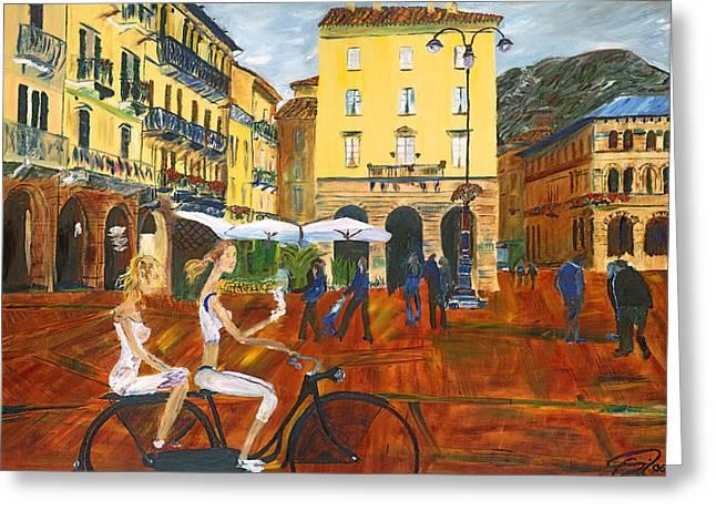 Piazza Da Como Greeting Card