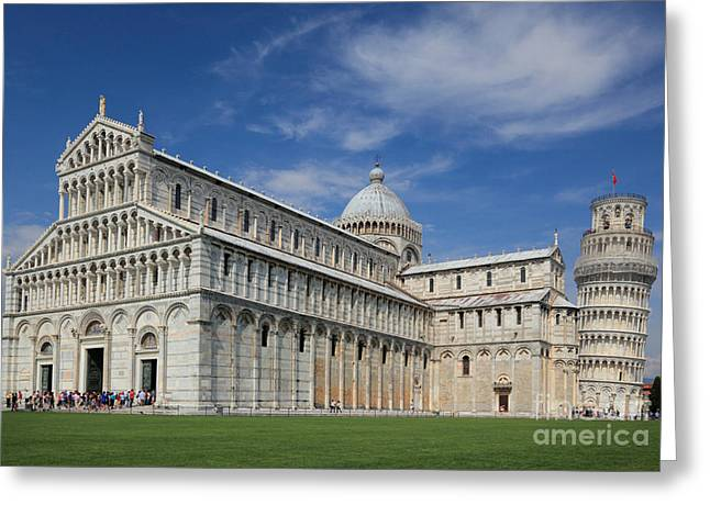 Piazza Dei Miracoli Greeting Card by Inge Johnsson