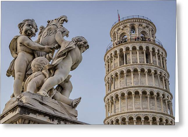 Piazza Dei Miracoli Greeting Card by Pablo Lopez