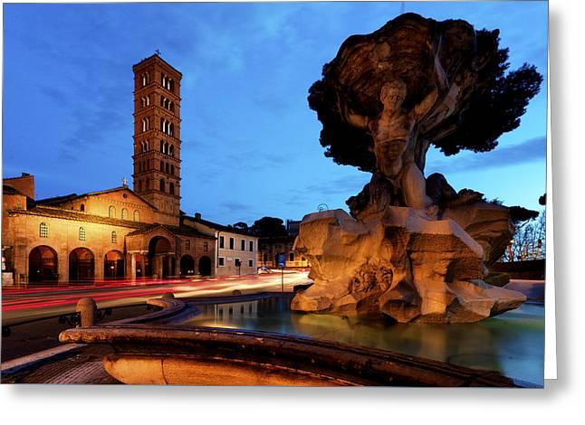 Piazza Della Bocca Della Verita' Greeting Card