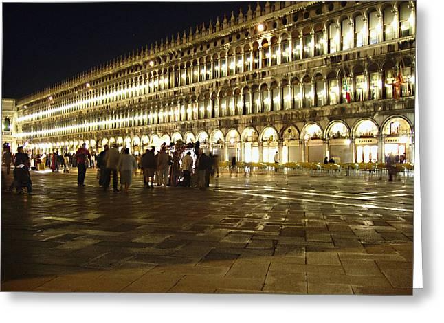 Piazza San Marco Greeting Card by Ellen Henneke