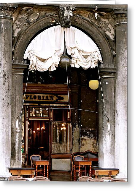 Piazza San Marco Cafe Florian Greeting Card