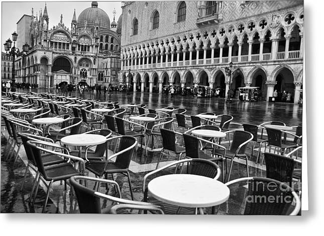 Piazza San Marco Venice Greeting Card by Design Remix