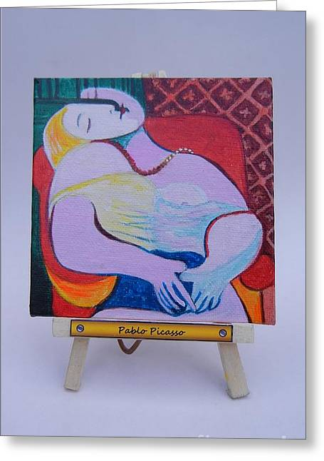 Picasso Greeting Card by Diana Bursztein