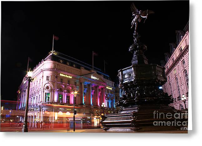 Piccadilly Circus Greeting Card by Size X