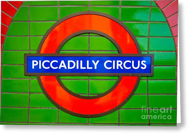 Greeting Card featuring the photograph Piccadilly Circus Tube Station by Luciano Mortula