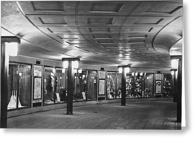 Piccadilly Circus Tube Station Greeting Card