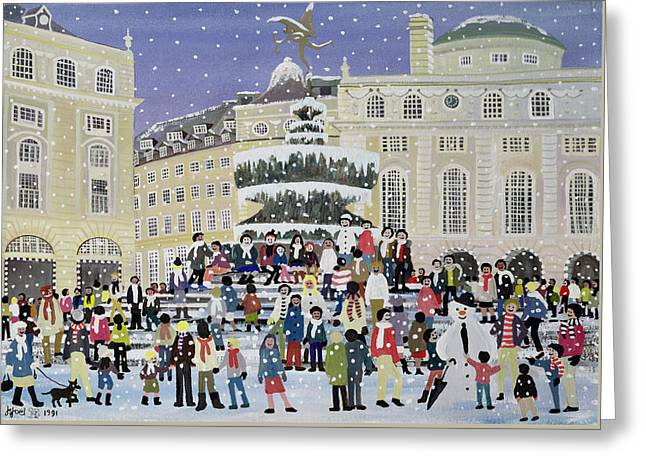 Piccadilly Snow Scene Greeting Card