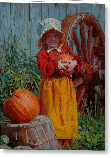 Pick Of The Patch Greeting Card by Jim Clements