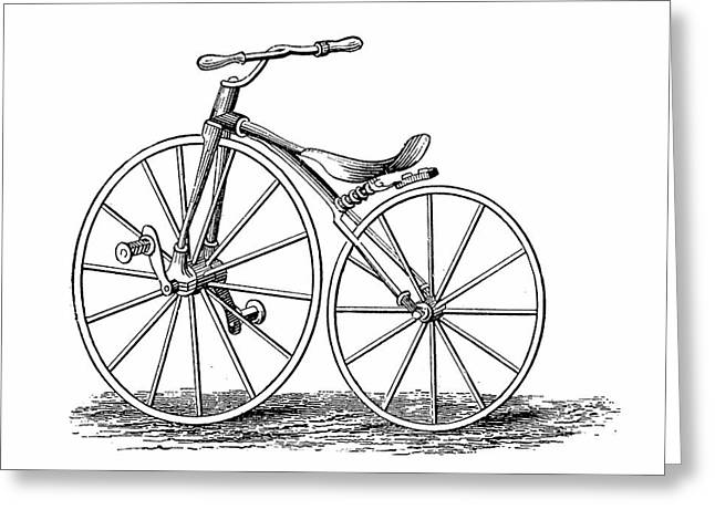 Pickering's Crank-pedal Driven Bicycle Greeting Card