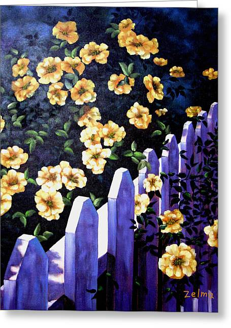 Picket Fence Greeting Card by Zelma Hensel