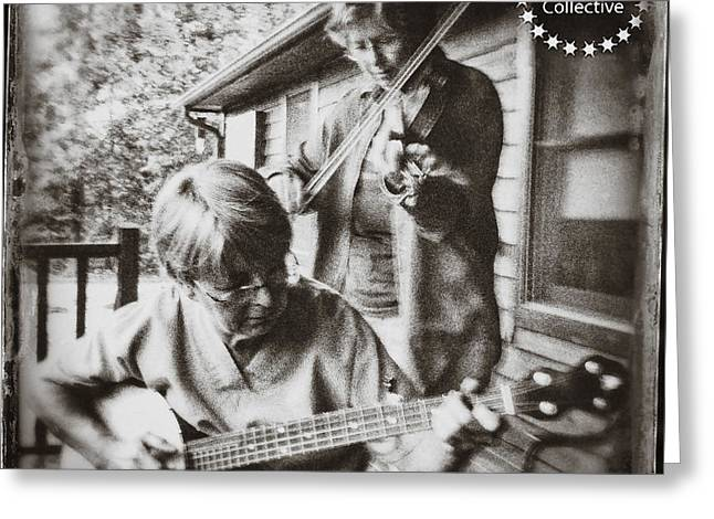 Pickin' And Fiddlin' On The Porch Greeting Card