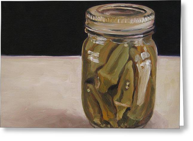 Pickled Okra Greeting Card
