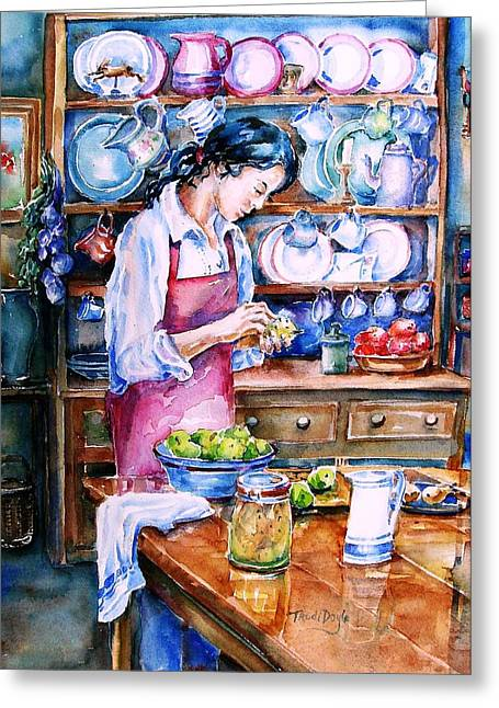 Pickling Pears  Greeting Card by Trudi Doyle