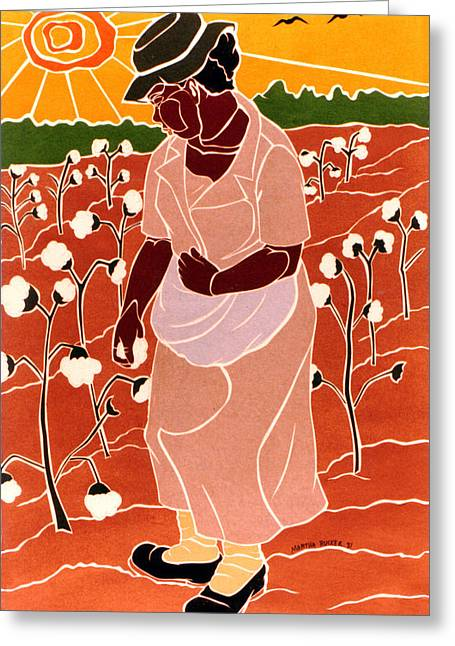 Pick'n Cotton Greeting Card by Martha Rucker