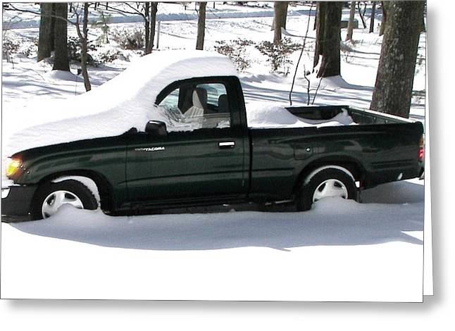 Greeting Card featuring the photograph Pickup In The Snow by Pamela Hyde Wilson