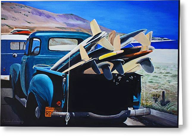 Pickup Truck Greeting Card