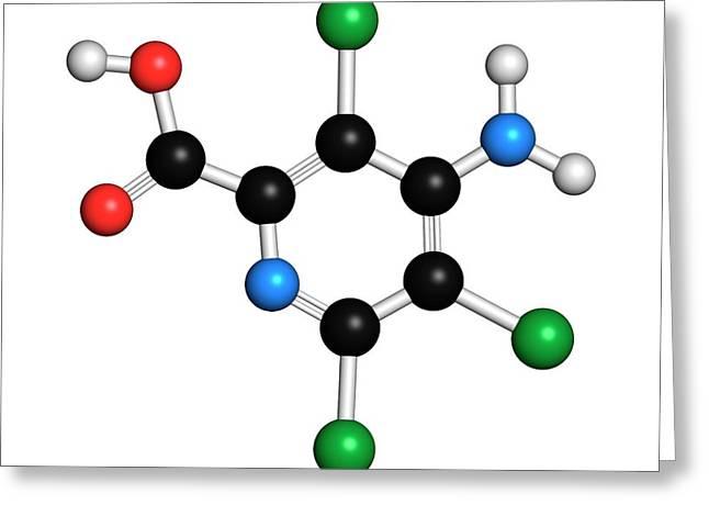 Picloram Herbicide Molecule Greeting Card by Molekuul