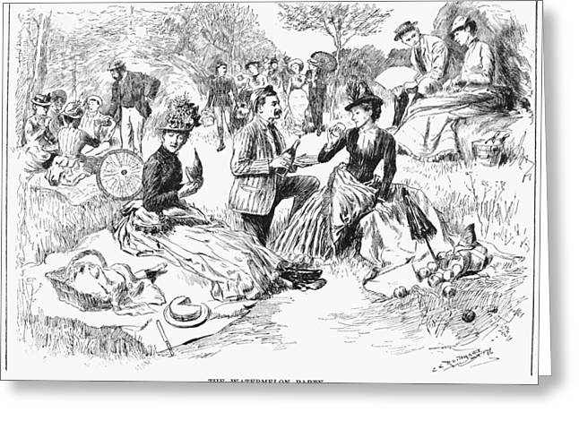 Picnic, 1886 Greeting Card by Granger