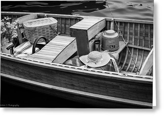 Greeting Card featuring the photograph Picnic Boat by Ross Henton