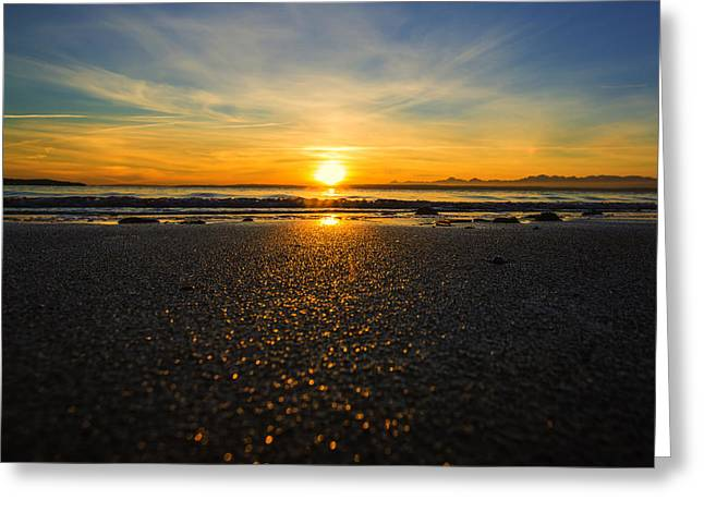 Picnic Point Sand Greeting Card by Ryan McGinnis