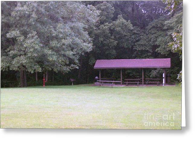 Picnic Shelter Greeting Card
