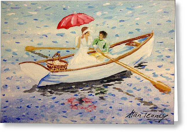 Greeting Card featuring the painting Picnic by Stan Tenney