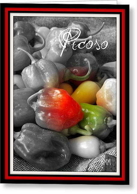 Picoso Peppers Greeting Card