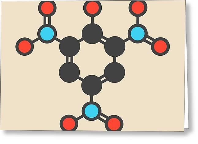 Picric Acid Explosive Molecule Greeting Card by Molekuul