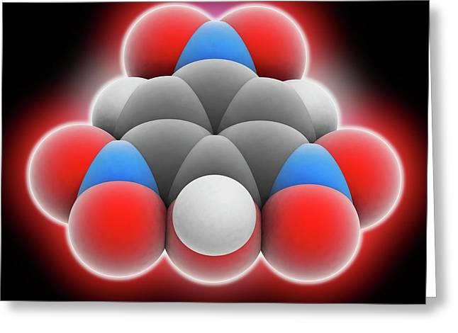 Picric Acid Molecule Greeting Card