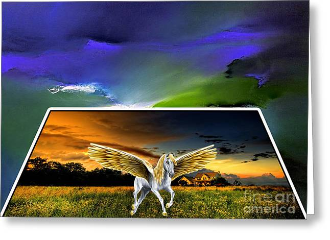 Picture A Pegasus Greeting Card by Marvin Blaine