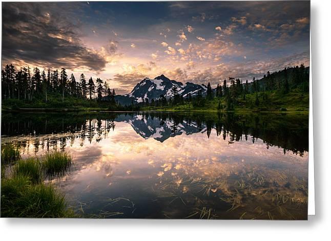 Picture Lake Awakening Greeting Card