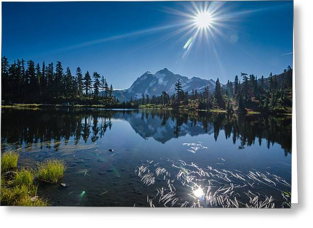 Picture Lake Mount Baker National Forest Greeting Card by Puget  Exposure