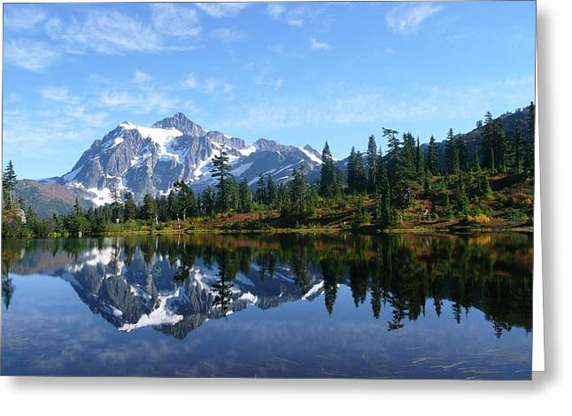 Greeting Card featuring the photograph Picture Lake by Priya Ghose