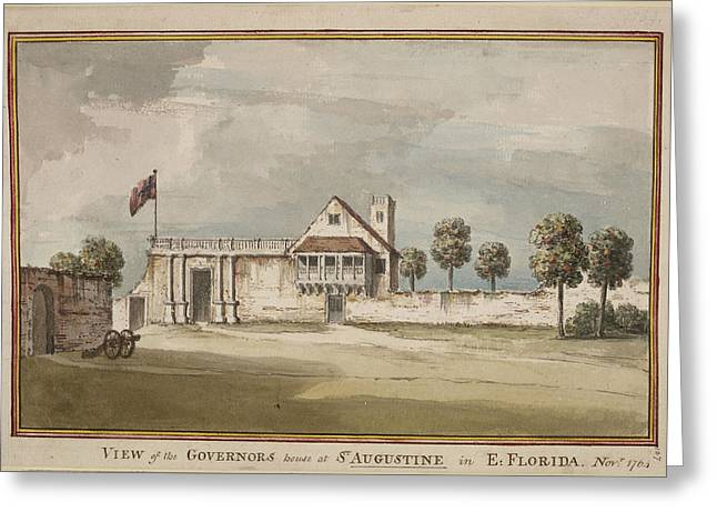 Picture Of The Governor's House Greeting Card by British Library