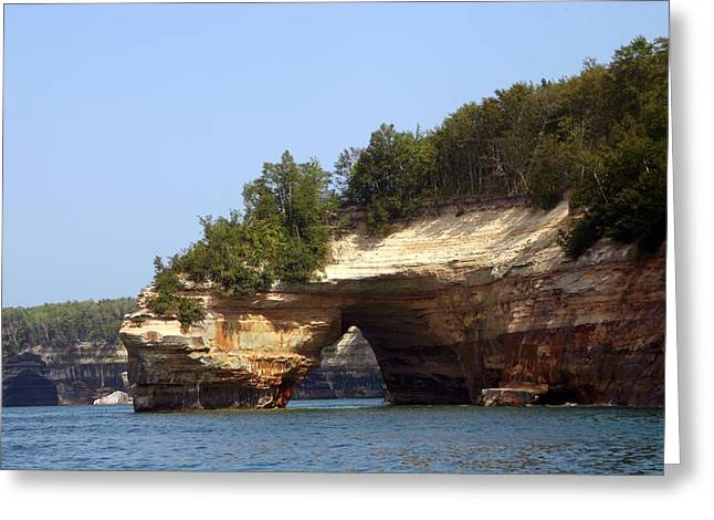 Pictured Rocks Bridge Greeting Card by Kevin Snider