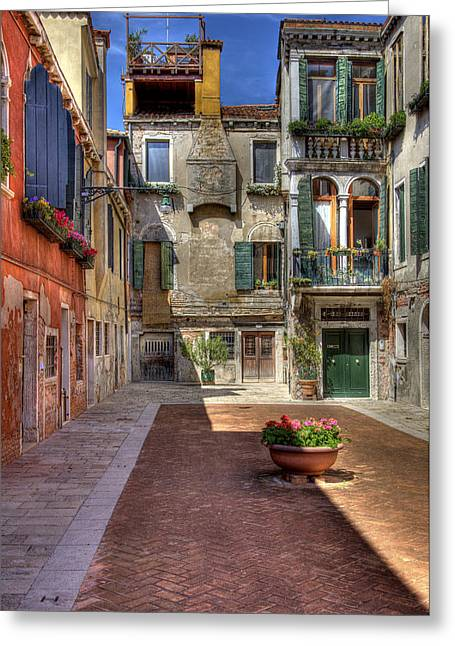 Greeting Card featuring the photograph Picturesque Alley by Uri Baruch