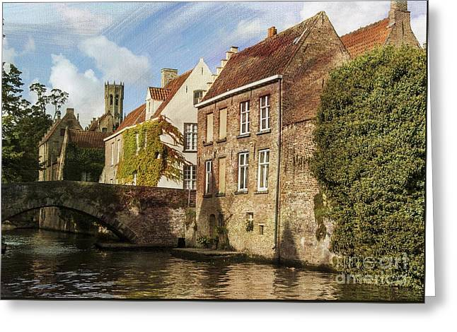 Picturesque Bruges Greeting Card by Juli Scalzi