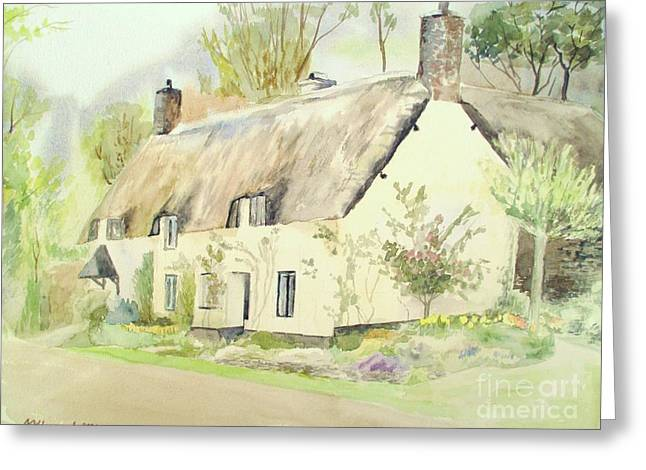 Picturesque Dunster Cottage Greeting Card