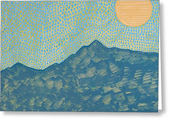 Picuris Mountains Original Painting Greeting Card by Sol Luckman