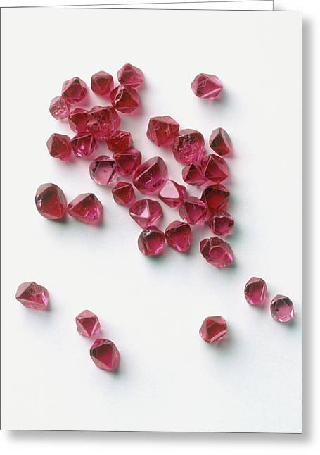 Pieces Of Red Spinel Greeting Card