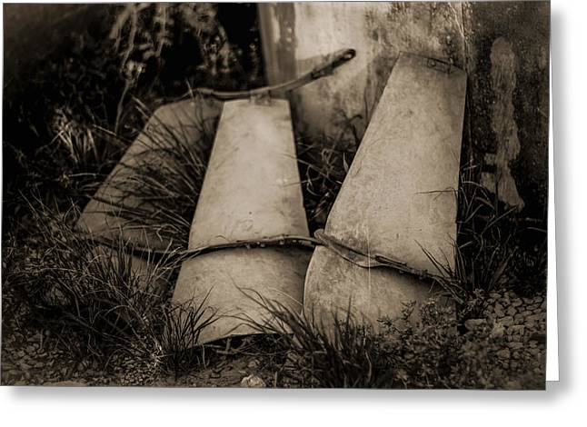 Greeting Card featuring the photograph Pieces Of The Windmill by Amber Kresge