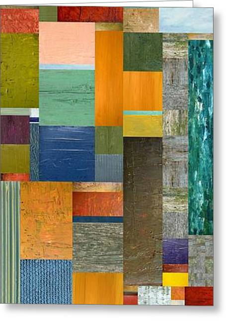 Pieces Parts V Greeting Card by Michelle Calkins