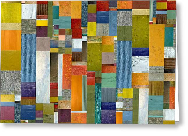 Pieces Parts Vl Greeting Card by Michelle Calkins