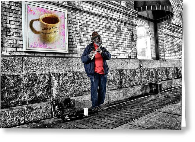 Pied Piper Greeting Card by Bill Cannon