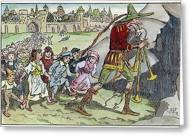 Pied Piper Illustration Greeting Card